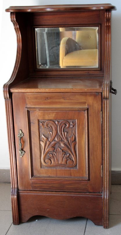 Carbonaia (cabinet to hold brazier) english, solid mahogany second half of the nineteenth century