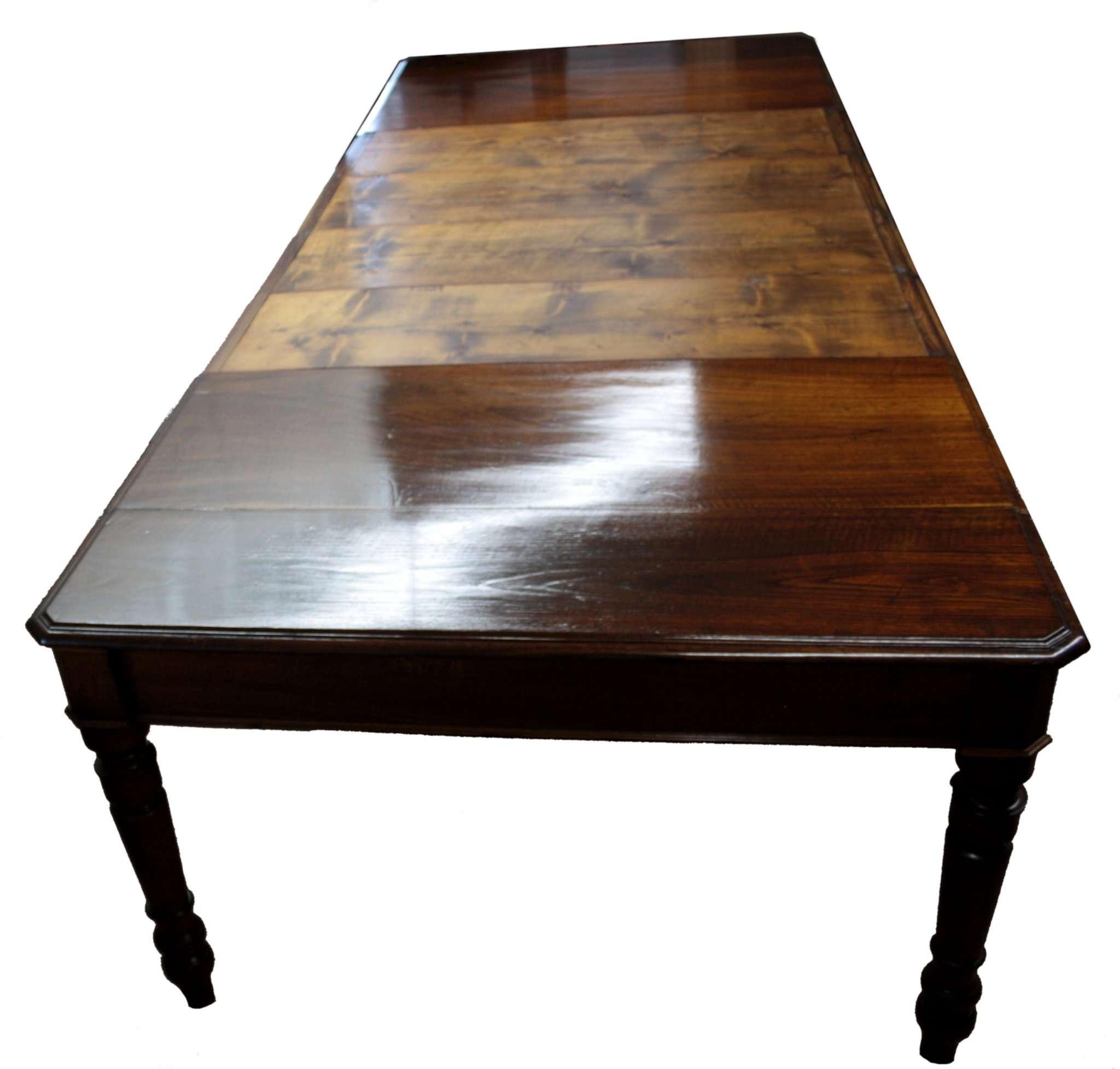 Tavolo Da Pranzo 3 Metri tavolo da pranzo 1800 restaurato in ciliegio e castagno massello  allungabile 3 metri - restauriraia conservazione e restauro di  manufatti in legno