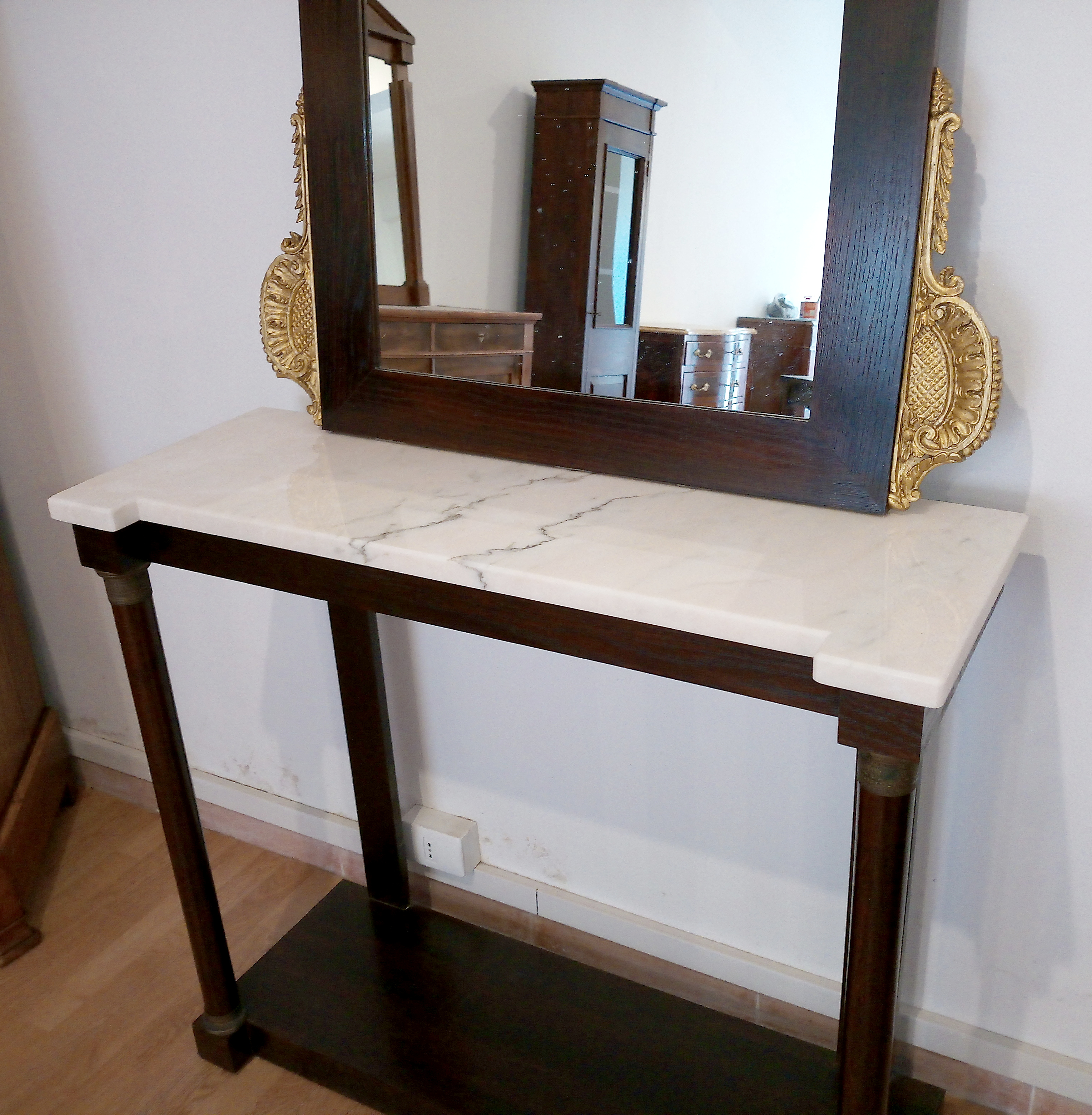 Consolle con specchio vintage italiana stile classico