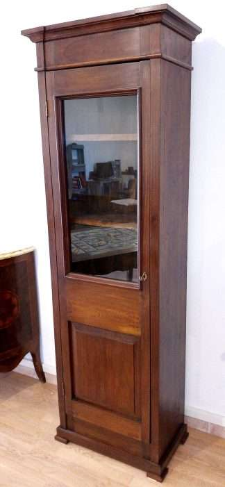 Libreria vetrinetta classica in mogano italiana